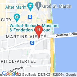 Map MARITIM HOTEL KOELN