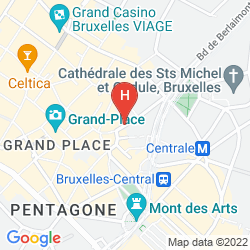 Map LA MADELEINE GRAND PLACE BRUSSELS