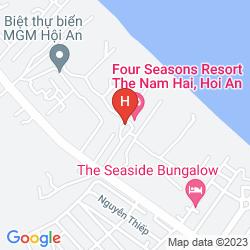 Map FOUR SEASONS RESORT THE NAM HAI, HOI AN, VIETNAM