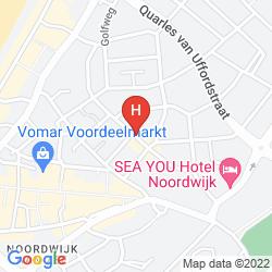 Map FLETCHER BADHOTEL NOORDWIJK