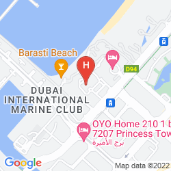 Map THE WESTIN DUBAI MINA SEYAHI BEACH RESORT & MARINA