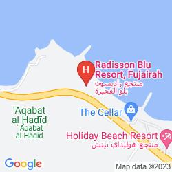 Map RADISSON BLU RESORT, FUJAIRAH