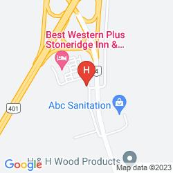 Map B.W. STONERIDGE INN CONFERENCE CENTER