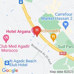 Map ADRAR AGADIR