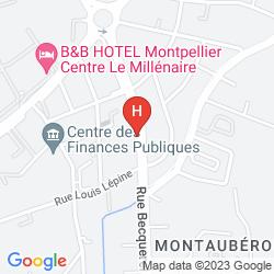 Map CAMPANILE MONTPELLIER EST - LE MILLENAIRE
