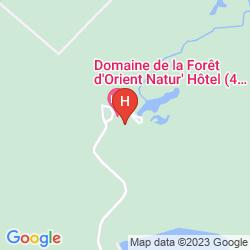 Map DOMAINE DE LA FORET D'ORIENT – NATUR'HOTEL GOLF & SPA
