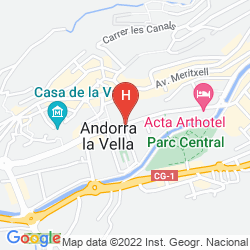 Map HOLIDAY INN ANDORRA