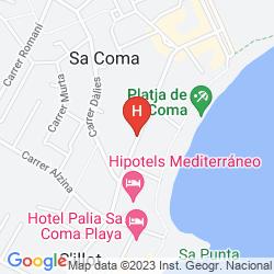 Map HIPOTELS MEDITERRANEO CLUB