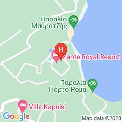 Map ZANTE ROYAL RESORT