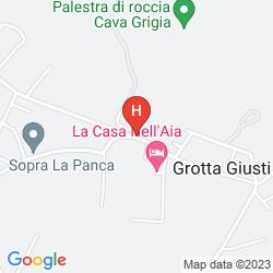 Map GROTTA GIUSTI NATURAL SPA RESORT