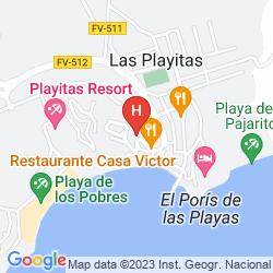 Map PLAYITAS HOTEL