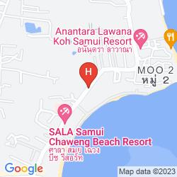 Map NOVOTEL SAMUI RESORT CHAWENG BEACH KANDABURI