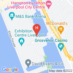 Map JURYS INN LIVERPOOL