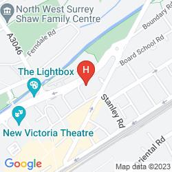 Map DOUBLETREE BY HILTON HOTEL WOKING