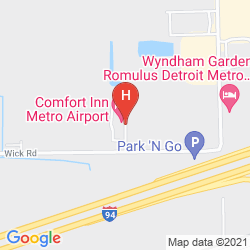 Map COMFORT INN METRO AIRPORT
