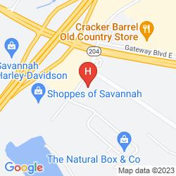Map LA QUINTA INN SAVANNAH I-95