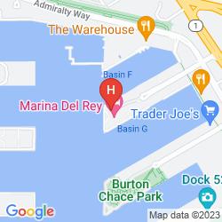 Map MARINA DEL REY HOTEL