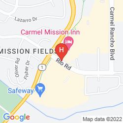 Map CARMEL MISSION INN
