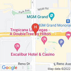 Map TROPICANA LAS VEGAS - A DOUBLETREE BY HILTON