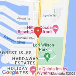 Map HILTON COCOA BEACH