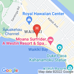 Map THE ROYAL HAWAIIAN, A LUXURY COLLECTION RESORT, WAIKIKI