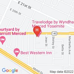 Map TRAVELODGE MERCED