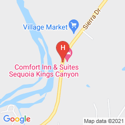 Map COMFORT INN & SUITES SEQUOIA KINGS CANYON