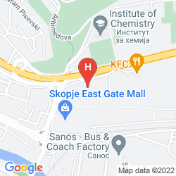 Map CONTINENTAL HOTEL SKOPJE