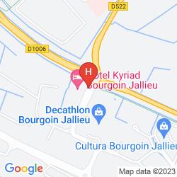 Map KYRIAD LYON BOURGOIN JALLIEU