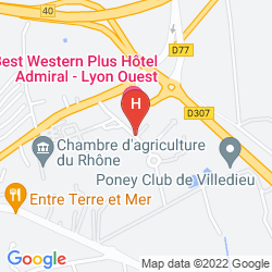 Map QUALYS HOTEL LYON NORD