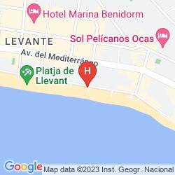 Map APARTAMENTOS TORRE LEVANTE