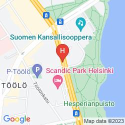 Map CROWNE PLAZA HELSINKI