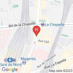 Map SURE HOTEL BY BEST WESTERN PARIS GARE DU NORD