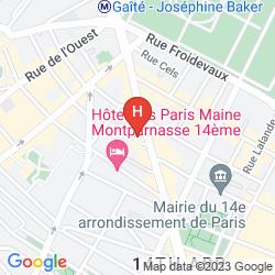 Map CAMPANILE PARIS 14 - MAINE MONTPARNASSE