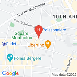 Map PARIS LA FAYETTE