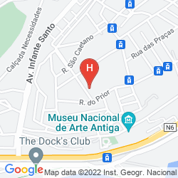 Map OLISSIPPO LAPA PALACE - THE LEADING HOTELS OF THE WORLD