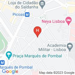 Map VIP EXECUTIVE MARQUES APARTHOTEL