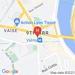 Map APPART'CITY CONFORT LYON VAISE