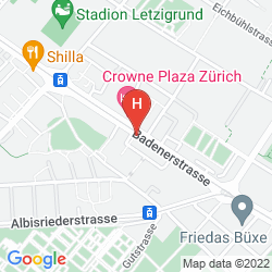 Map CROWNE PLAZA ZURICH