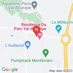 Map RESIDENCE DU PARC  VAL D'EUROPE