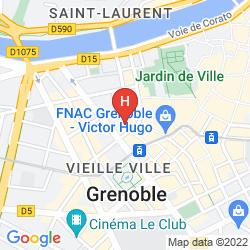 Map RESIDHOTEL GRENETTE