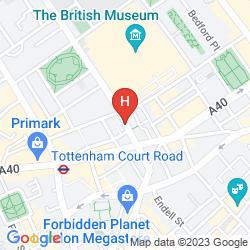 Map Radisson Blu Edwardian Bloomsbury Street Hotel