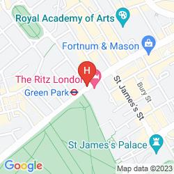 Map THE RITZ LONDON