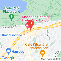 Map THE PARK TOWER KNIGHTSBRIDGE, A LUXURY COLLECTION HOTEL, LONDON