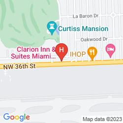 Map CLARION INN & SUITES MIAMI AIRPORT