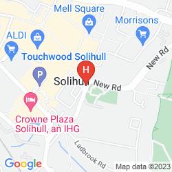 Map RAMADA BIRMINGHAM SOLIHULL