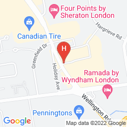Map HOWARD JOHNSON HOTEL LONDON