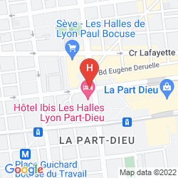 Map MERCURE LYON CENTRE SAXE LAFAYETTE