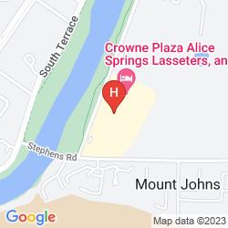 Map CROWNE PLAZA ALICE SPRINGS LASSETERS