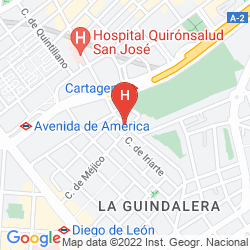 Map AC AVENIDA AMERICA BY MARRIOTT